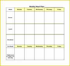 Meal Planning Spreadsheet Excel Free Meal Planner Template Of 18 Meal Planning Templates