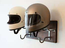 Motorcycle Coat Rack Double Motorcycle Helmet Rack Jacket Hook Handmade 8