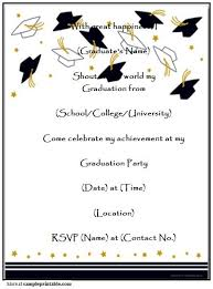 printable graduation cards free online party and birthday invitation design your own graduation party
