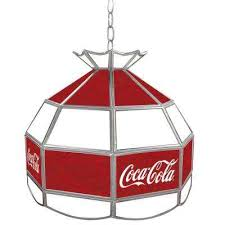 coca cola 16 in stained glass billiard hanging tiffany light