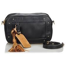 chloé leather eden cross bag handbags leather other black ref 113220