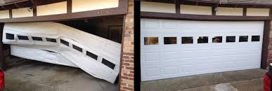 ran into hit smashed garage door before and after for website