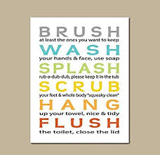 bathroom rules for kids.  Rules Love St  Bathroom Rules Kids Poster Girls Quotes  Artistic In For