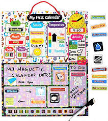 Amazon Com Kraftzlab Magnetic Kids Calendar And Chore Chart