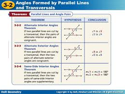Angles Formed By Parallel Lines Cut By A Transversal Worksheets ...