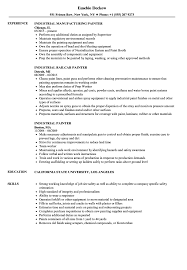 Industrial Resume Examples Industrial Painter Resume Samples Velvet Jobs 12