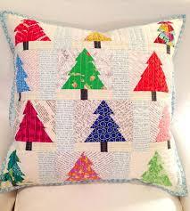 5 Festive Christmas Pillow Shams & Christmas trees pieced patchwork trees Adamdwight.com
