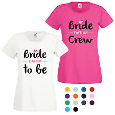 Jga T Shirt Damen Mit Motiv Bride To Be Bride Crew Spruch Fun
