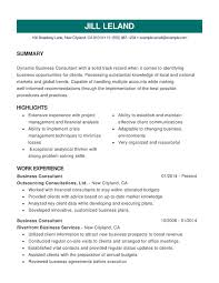 Business Combination Resume Samples Examples Format