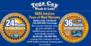 napa easy pay financing you get 36 month 36 000 warranty