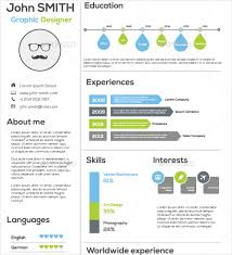Flat & Simple Infographic Resume Template AI Format Download