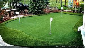 interesting diy backyard putting green residential synthetic