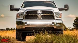 Dodge Light Bar 2010 2017 Dodge Ram 2500 3500 40 Inch Curved Led Light Bar Bumper Mount By Rough Country