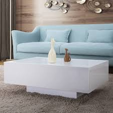 white coffee table modern lovely 85cm modern high gloss white coffee table rectangle living room