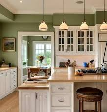 Warm Green Kitchen Cabinets White Paint Color Ideas Modern Design