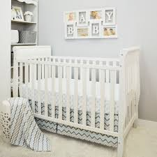 incredible classics blue gray chevron 3 piece ba crib bedding set baby crib bedding sets decor