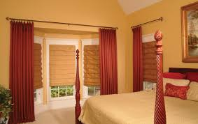 Bedroom  Design Ideas Interior Grey White Master Bedroom Window - Master bedroom window treatments