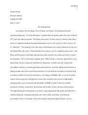 paper essay mantsios memetova alikamemetova english 9 pages medical marijuana research essay