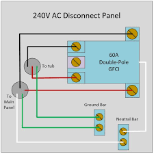 electrical how to wire a 240v disconnect panel for spa that does 60 Amp Disconnect Wiring Diagram at Electrical Disconnect Wiring Diagram