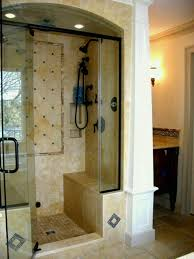 stand up shower ideas astonishing small bathroom walk in no door grey pics of and walls