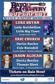 Bayou Country Superfest Seating Chart 2016 Pinterest