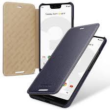 details about for google pixel 3 xl genuine leather flip case cover 9color black blue green