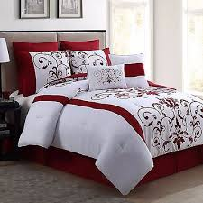 red and white bedding. Brilliant Red New Queen Size Comforter Set 8 Piece Red Wine And White Bedding Bed Sheets Intended Z