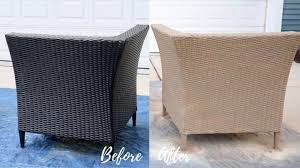 paint outdoor resin wicker furniture