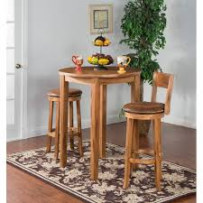 rustic oak round pub table 36 inch sedona rc willey furniture