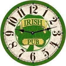 clock face irish pub decor