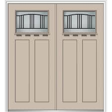 painted double front door. Simple Double MMI DOOR Craftsman Decorative Glass RightHand Inswing Sandal Painted  Fiberglass Prehung Double Entry Door In Front R
