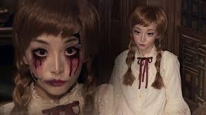 vine doll broken doll makeup ハロウィン ドールメイク you