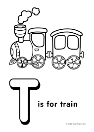 Small Picture 1899929 Full Alphabet Coloring Pages For Preschool T Is For Train