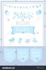 children party invitation templates baby shower party invitation template welcome stock vector royalty