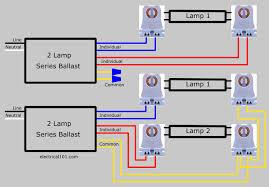 electrical101 com GE T12 Ballast Wiring Diagram 3 lamp series ballast lampholder wiring diagram 2