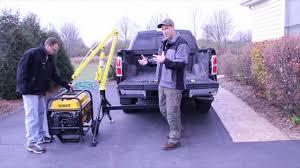 MaxxTow Portable Hitch Mounted Pickup Truck Crane - YouTube