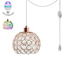 Disco Ceiling Light Fixtures Disco Ball Party Pendant Lights Strobe Club Lights Effect Magic Rgb Led Stage Lights With 15 Foot Wire Suitable For Kids Birthday Gift Toys Home Ktv