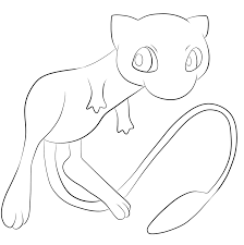 151 Mew Pokemon Kleurplaat Embroidery Pokemon Coloring Pages