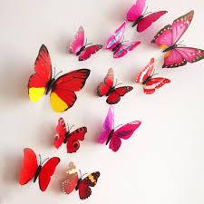 3d Butterfly Wall Decor Aliexpresscom Buy 12 Pcs Lot Pvc 3d Butterfly Wall Stickers