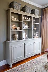 image of grey kitchen hutch ideas