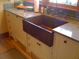 Beautiful Single Copper Farmhouse Sink With Bronze Kitchen Sink