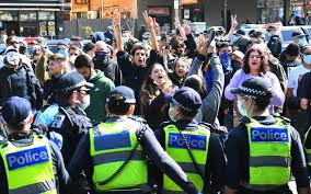All workplaces in metro melbourne will be closed or subject to the restrictions listed below, in an effort to stop about 250,000 people travelling for work each day. People Protesting Against Coronavirus Lockdown Arrested In Melbourne Amid Clashes With Police Rnz News