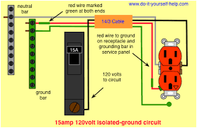 circuit breaker wiring diagrams do it yourself help com Electric Circuit Breaker Panel Wiring wiring diagram 15 amp isolated ground circuit circuit breaker panel wiring diagram pdf