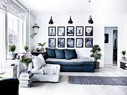 Pale Blue Living Room Navy Blue Walls Black And White Lights Background Black And White