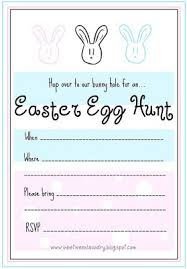 easter egg hunt template craftionary