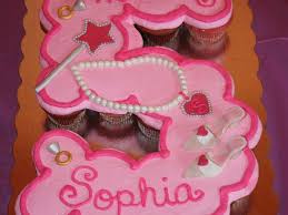 Princess Fifth Birthday Cupcake Cake Cakecentralcom