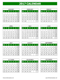 Open Officetemplates 2017 Calendar Template Open Office Templates