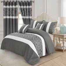 3 piece faux silk bedding set with