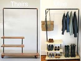 Standard Height For Coat Rack Enchanting Closet Coat Rack Roll Over Image To Zoom Standard Closet Coat Rack