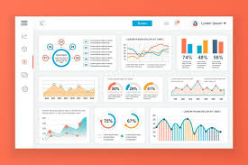 Dashboard Admin Panel Vector Design Template With